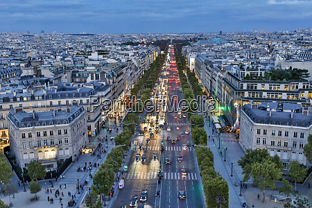 view from top of arc de
