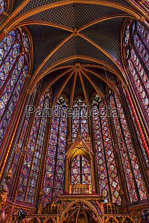 saint chappelle cathedral paris france saint