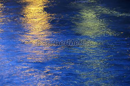 france paris night reflections seine river