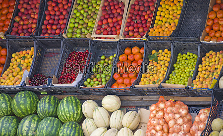 selling, fruit, and, vegetables, , tirana, , albania - 27330600
