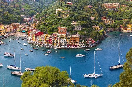 europa italien ligurien portofino luftaufnahme von