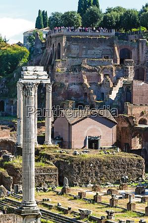 roman forum with temple of castor
