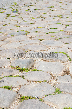 roman road close to colosseum rome