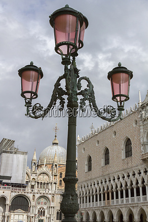 old lamppost on piazza san marco