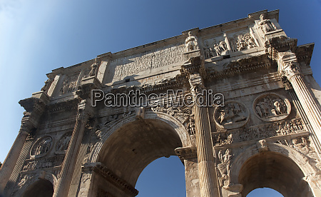 constantine arch close moon rome italy