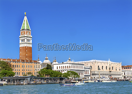 grand canal campanile doges palace piazza