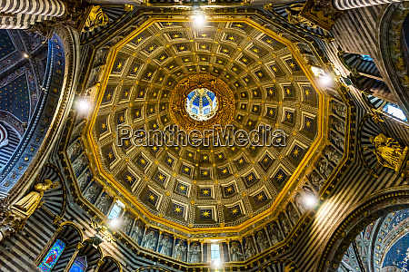 siena cathedral interior siena italy completed