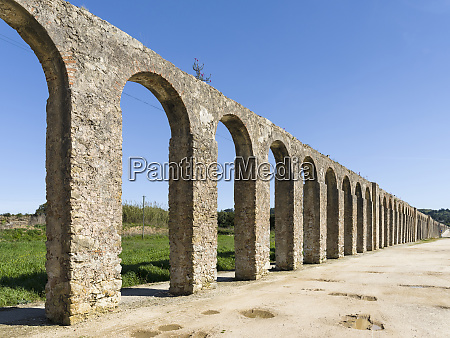 the aqueduct historic small town obidos