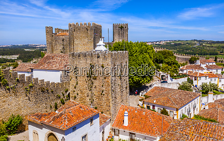 castle walls turrets and towers medieval