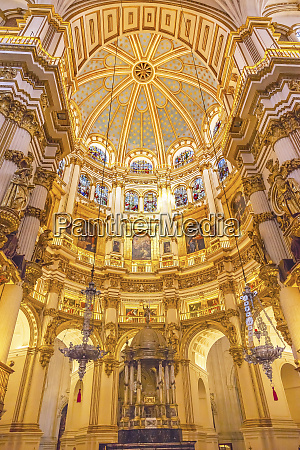 stained glass cathedral andalusia granada spain