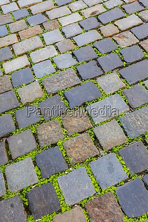 croatia zagreb cobblestones in an old
