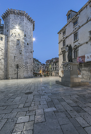 croatia split old town at dawn