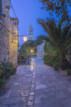 croatia dalmatia hvar old town at