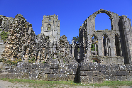 england, north, yorkshire, ripon., fountains, abbey, studley, royal., unesco-weltkulturerbe. - 27333459