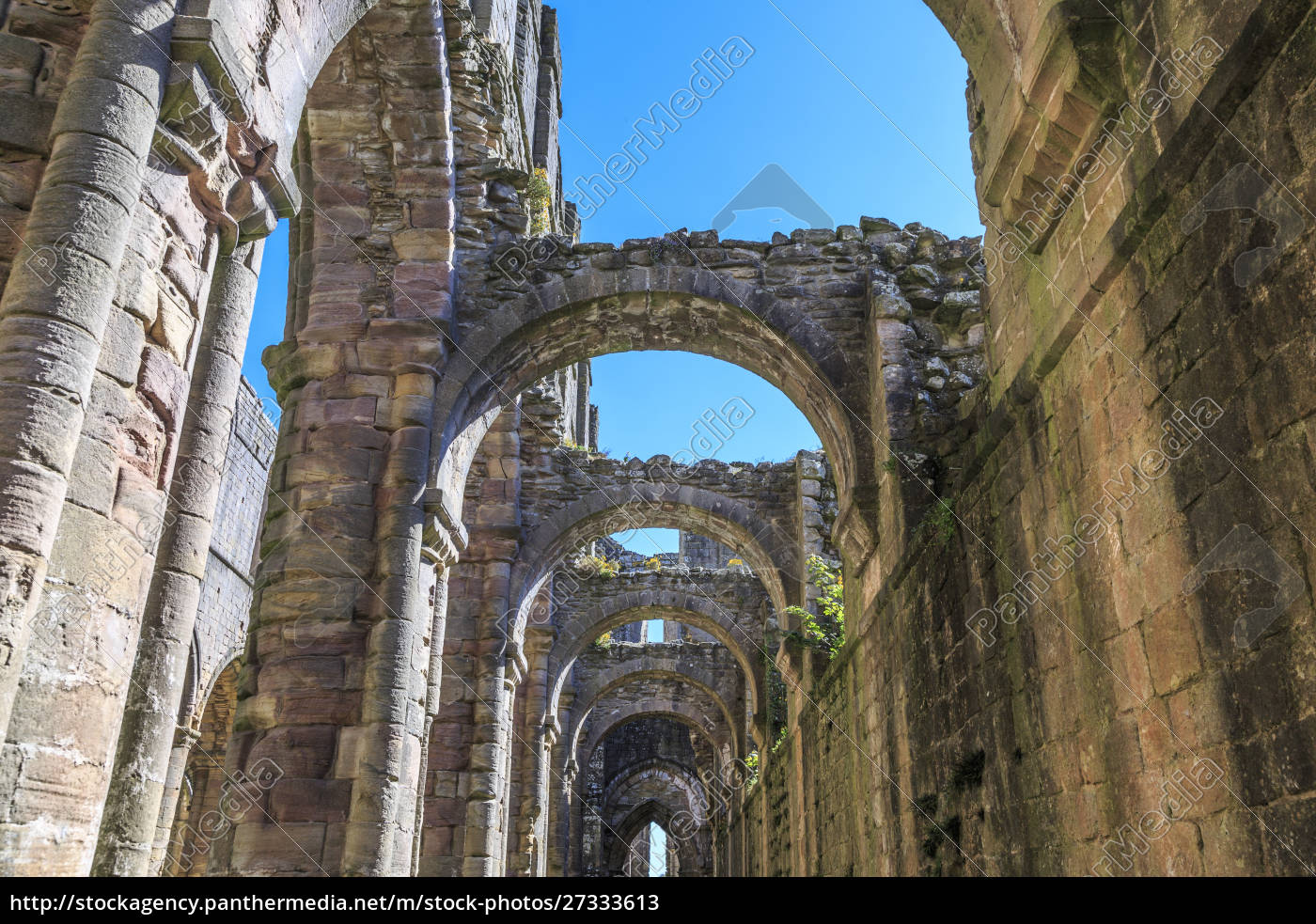 england, north, yorkshire, ripon., fountains, abbey, studley, royal., unesco-weltkulturerbe. - 27333613