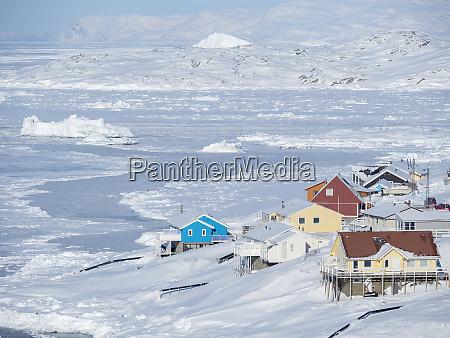 sea ice in the frozen disko
