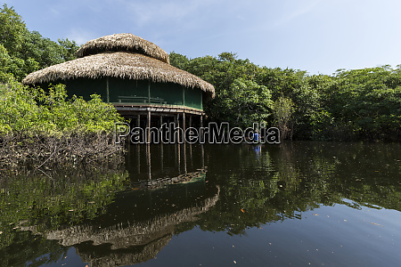 tourists, canoe, in, the, amazon, river - 27335768