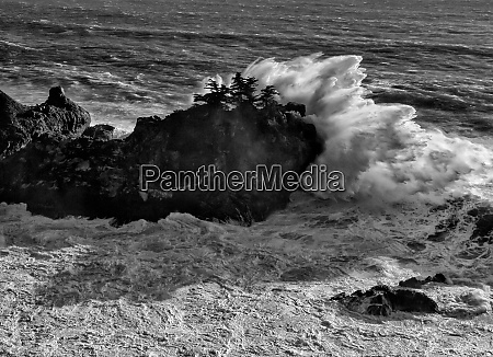 usa california big sur big wave