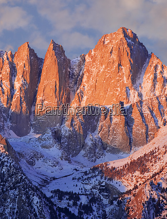 usa california mt whitney mountain landscape