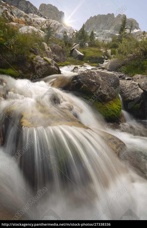 usa, kalifornien, inyo, national, forest., strom, fließt, in - 27338336