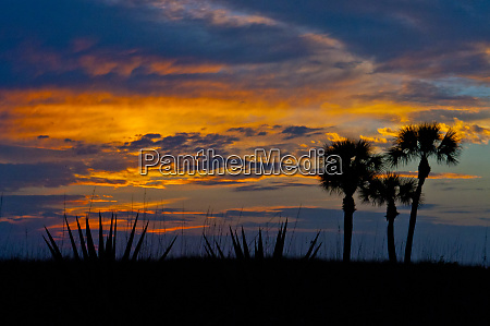 usa florida sarasota sunset crescent beach