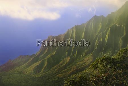 usa hawaii kauai na pali coast