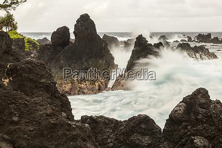 usa hawaii laupahoehoe beach point state
