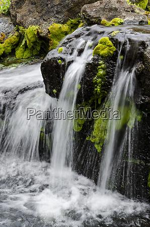 small stream cascading over rocks in