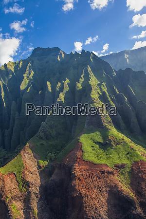 usa hawaii kauai aerial of the