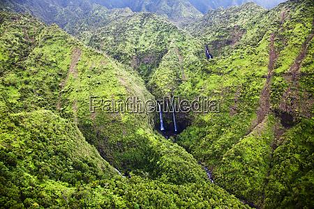 usa hawaii kauai aerial image of