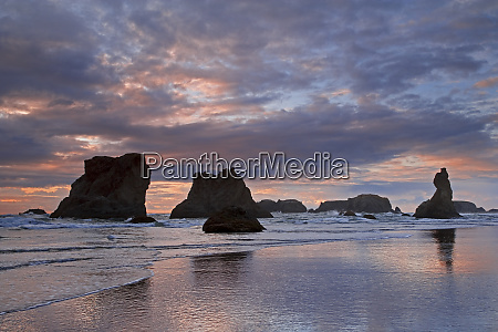 usa oregon bandon sunset colors clouds