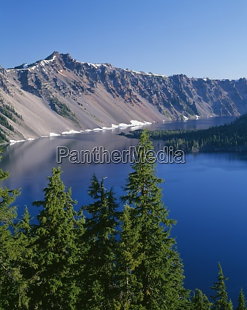 usa oregon crater lake nationalpark westrand