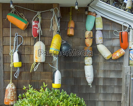 usa oregon cannon beach buoys hang