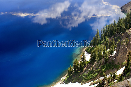blue water crater lake national park