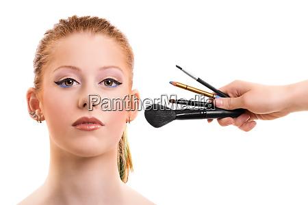 schoene maedchen immer ihr make up