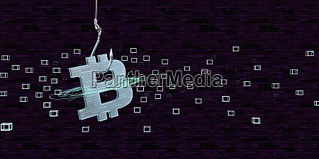 bitcoin, als, köder, für, eine, falle, 3d-illustration - 27358417