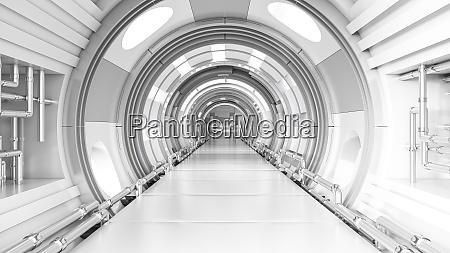 rendering eines futuristischen tunnels