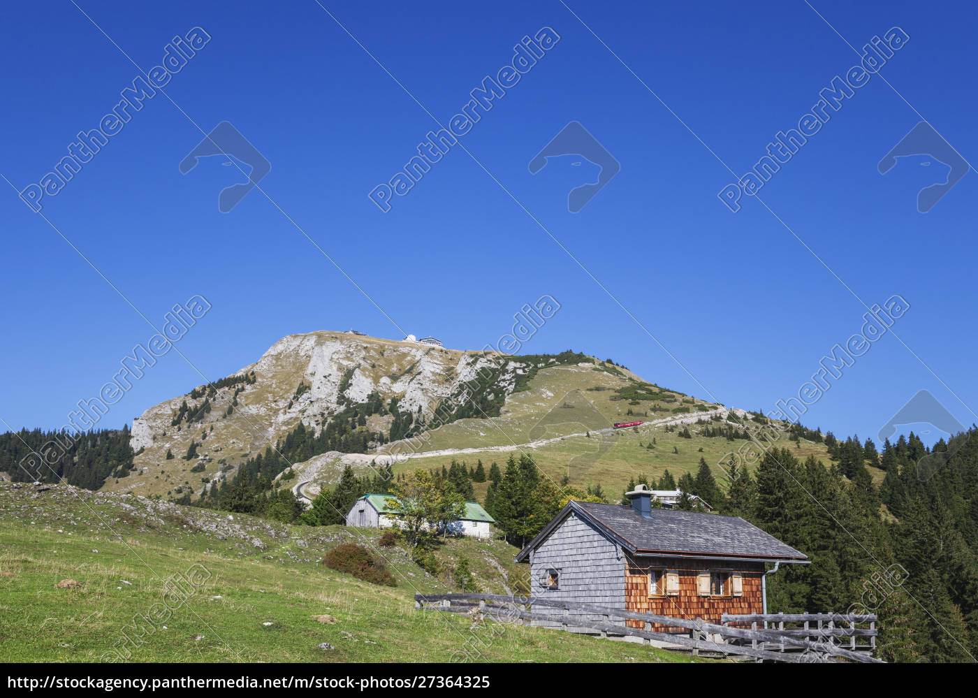 low, angle, view, of, schafberg, railway - 27364325