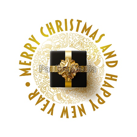 merry christmas and new year greeting