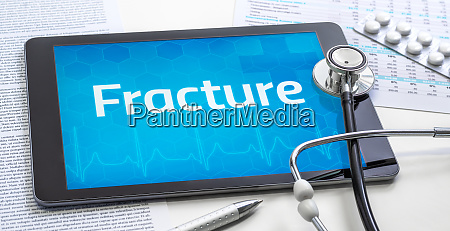 the word fracture on the display