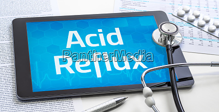 the word acid reflux on the