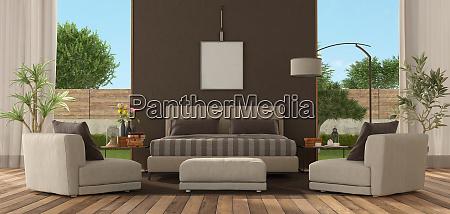 hauptschlafzimmer einer modernen villa