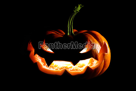 gluehende halloween jack o laterne