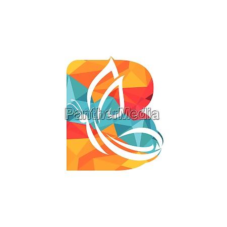 schmetterling buchstabe b vektor logo design