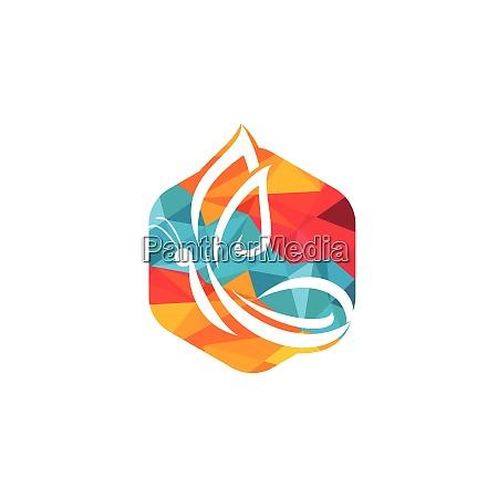 schmetterling vektor logo design
