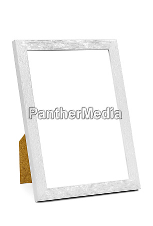 white wooden picture frame