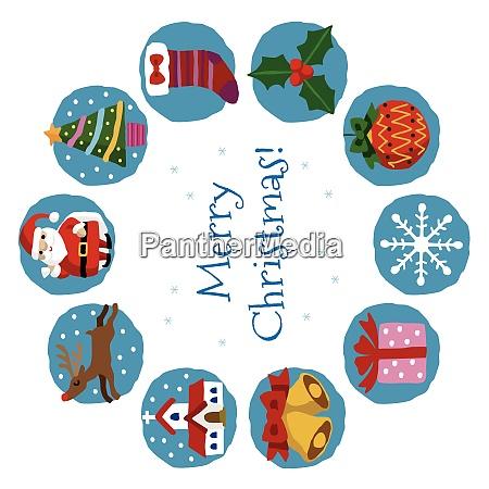 weihnachtskarte mit weihnachtsmann weihnachtsbaum und schneemann