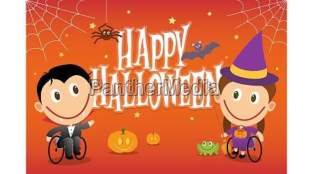 rollstuhlkinder auf halloween kostuemen behinderte kinder