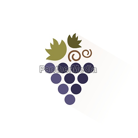bunch of grapes icon with shadow