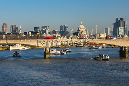 st pauls cathedral river thames and
